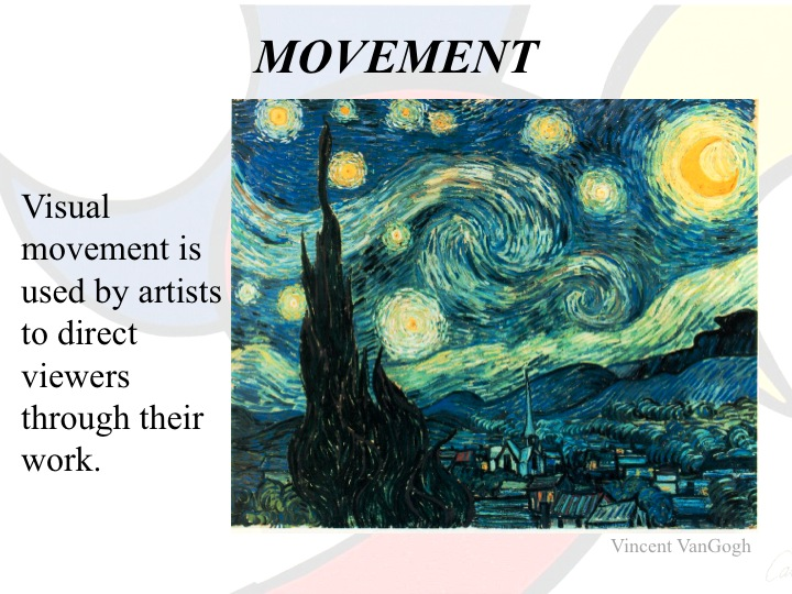 Movement Element Of Art : Elements principles of art lake oswego literacy