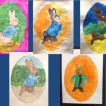 Students create a project relating to the artist